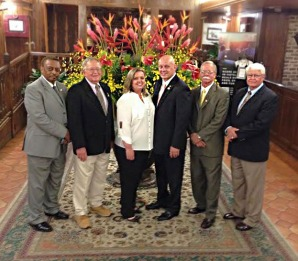 Chatom Town Council -Pictured from left to right: Cleophus Stephens, Ted Hazen, Tina Jones, Mayor Harold Crouch, Carl Craig, and Wayne Blackwell