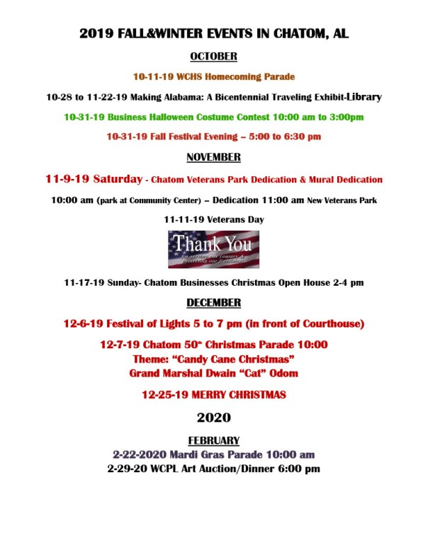 2019 FALL EVENTS IN CHATOM1024_1